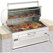 "Fire Magic Legacy Charcoal 30"" Built-In Grill with Oven Hood"