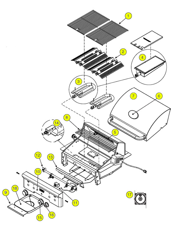 American Outdoor Grill Pre 2015 Series Parts