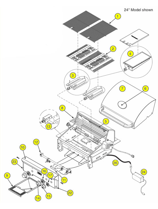 American Outdoor Grill Parts